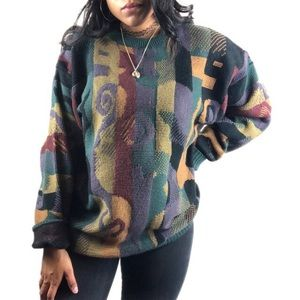 Vintage Bachrach • Multicolored Chunky Sweater.
